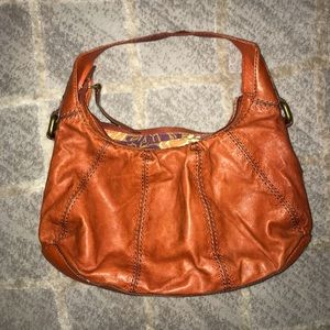 Orange fossil purse